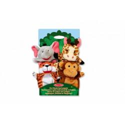 Obrázek Maňásci  safari ZOO 25cm 4ks na kartě v sáčku