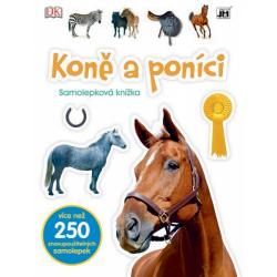 Obrázek knížka samolepková Koně a poníci