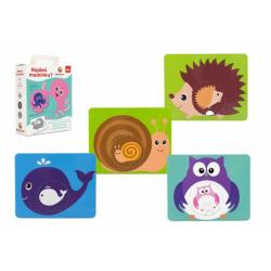 Obrázek Najdeš maminku? edukační karty pro nejmenší 9 pevných karet společenská hra v krabici 15x18x6cm 18m+