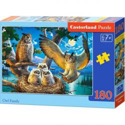Obrázek Puzzle Castorland 180 dílků - Soví rodinka