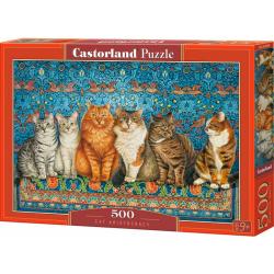 Obrázek Puzzle Castorland 500 dílků - Kočičí aristokracie