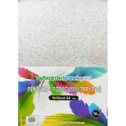 Obrázek Třpytivá pěnovka - 10 ks, Stříbrná, A4 - cca 2 mm