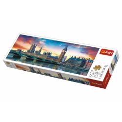 Obrázek Puzzle Big Ben a Westminsterský palác, Londýn panorama 500 dílků 66x23,7cm