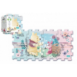 Obrázek Pěnové puzzle Medvídek Pú 32x32x1cm 8ks v sáčku 2+