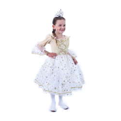 Obrázek Dětský kostým Princezna zlatá (M)