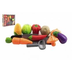 Obrázek Zelenina krájecí plast se struhadlem s nožem se škrabkou v krabici 30x24x6cm