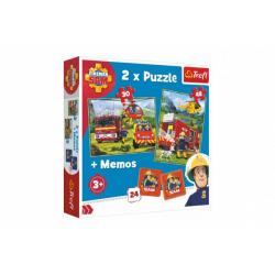 Obrázek Puzzle 2v1 + pexeso Požárník Sam 27,5x20,5cm v krabici 28x28x6cm