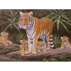 Obrázek Malování podle čísel - Tygřice a mláďata