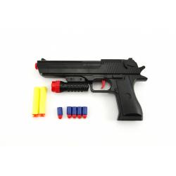 Obrázek Pistole na pěnové náboje 2ks + špuntovka 5ks plast 30cm