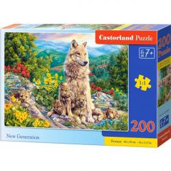 Obrázek Puzzle Castorland 200 dílků premium - Nová generace vlků