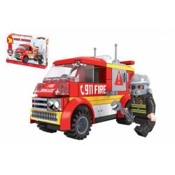 Obrázek Stavebnice Dromader auto hasiči 96 dílků v krabičce 22x15x5cm