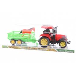 Obrázek Traktor s vlečkou a koněm