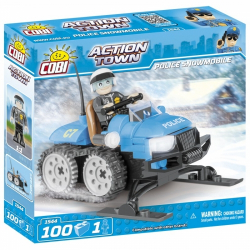 Obrázek Cobi 1544  Action Town Policejní sněžný skútr 100 kostek