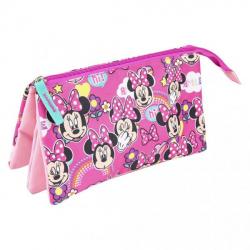 Obrázek Penál na zip Minnie růžový