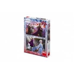 Obrázek Puzzle 2v1 Ledové království II/Frozen II 2x77dílků v krabici 19x27,5x4cm