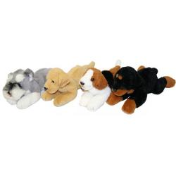 Obrázek plyšový pes ležící, 4 druhy, 16 cm