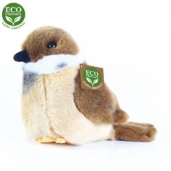 Obrázek Plyšový pták vrabec stojící 13 cm ECO-FRIENDLY