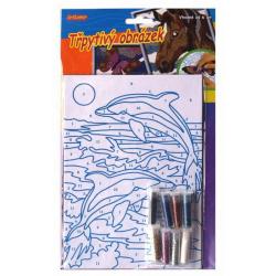 Obrázek Třpytivý obrázek- delfín
