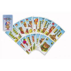 Obrázek Prší jednohlavé dětské společenská hra - karty v plastové krabičce 7x11x2cm