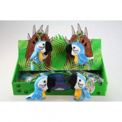 Obrázek Plyš Papoušek modrý klíčenka 24/bal