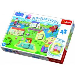 Obrázek Puzzle 36 dílků Flip-flap Prasátko Pepa