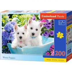Obrázek Puzzle Castorland 200 dílků premium - Bílá štěňátka