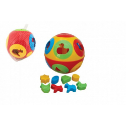 Obrázek Vkládačka míč plast průměr 17cm v síťce 12m+
