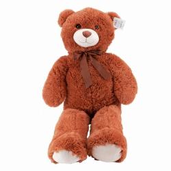 Obrázek Plyšový medvěd s mašlí 100 cm