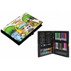 Obrázek Velká kreslící sada Zoo 67ks v plastové krabičce 31x21x4cm