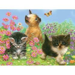 Obrázek Malování podle čísel PASTELKAMI - Koťata