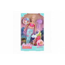Obrázek Panenka mořská panna Anlily plast 30cm s doplňky v krabici 20x33x5cm
