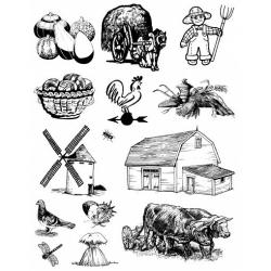 Obrázek Gelová razítka- Farma- dýně