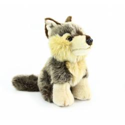 Obrázek plyšový vlk sedící, 18 cm
