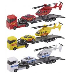 Obrázek Teamsterz tahač + helikoptéra + auto