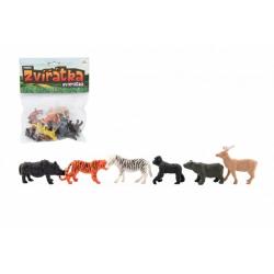Obrázek Zvířátka mini safari ZOO plast 5-6cm 12ks v sáčku