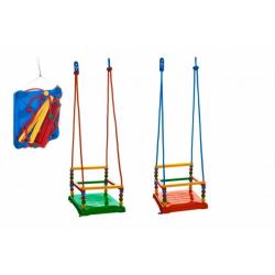 Obrázek Houpačka plast 35x34cm nosnost 40kg 3 barvy v síťce
