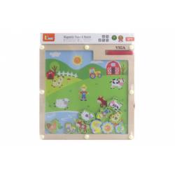 Obrázek Dřevěná magnetická hra - Farma