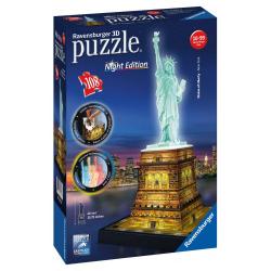 Obrázek Puzzle 3D Socha Svobody 3D (Noční edice) 108d