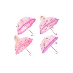 Obrázek Dáždnik 3D princezná / víla priemer 70cm - 2 farby