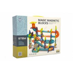 Obrázek Magnetická stavebnice plast 66ks v krabici 31x25x8cm