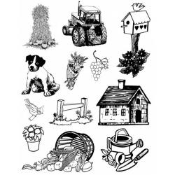 Obrázek Gelová razítka- Farma- traktor