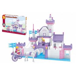 Obrázek Stavebnice Dromader hrad pro holky 368 dílků v krabici 38x28x6cm