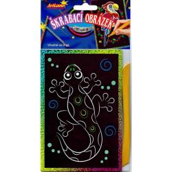 Obrázek Vyškrabovací obrázky- Třpytivé barevné, v balení 24 ks, zadejte počet kusů, cena je za 1ks