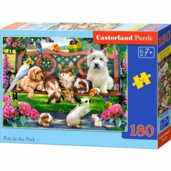 Obrázek Puzzle Castorland 180 dílků - Mazlíčci v parku