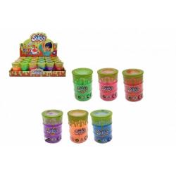 Obrázek Sliz - hmota v barelu 4,5x6,5cm mix barev 24ks v boxu