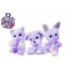 Obrázek Zvířátko FUR BALLS plyš Touláček VIOLET pejsek/kočka/králík fialový s doplňky v krabici 24x20x10cm