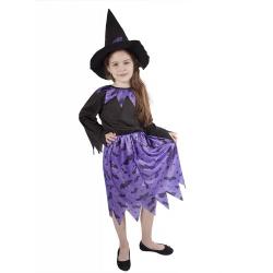 Obrázek karnevalový kostým čarodějnice fialová vel. S