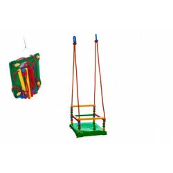 Obrázek Houpačka plast 35x34cm zelená nosnost 40kg v síťce