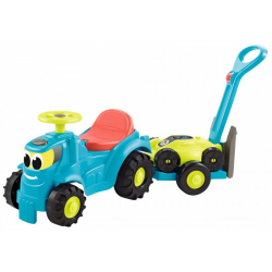 Obrázek Odrážedlo Traktor s vlekem a sekačkou