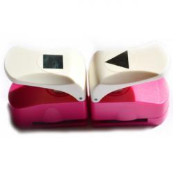 Obrázek Děrovačka 25mm- Trojúhleník + čtverec, dvě za cenu jedné